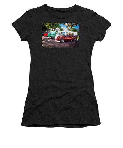 Vw Bus Stop 1964 1961 1968 Vans Trucks Painted Women's T-Shirt