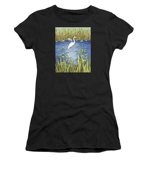Wading And Watching Women's T-Shirt (Athletic Fit)