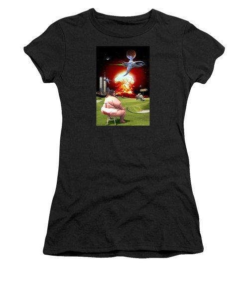 Waffle House Women's T-Shirt (Junior Cut) by Scott Ross