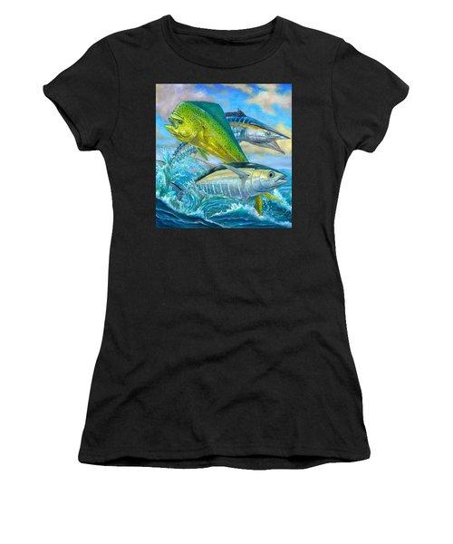 Wahoo Mahi Mahi And Tuna Women's T-Shirt (Athletic Fit)