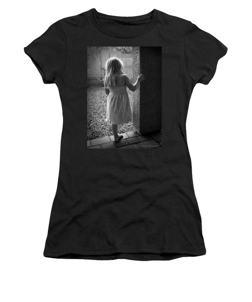 Women's T-Shirt (Junior Cut) featuring the photograph Waiting For The Rain To End  by Lucinda Walter