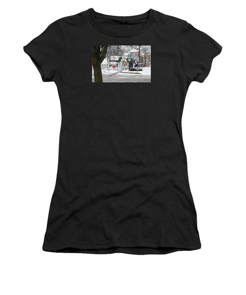Waiting To Give A Ride Women's T-Shirt (Athletic Fit)