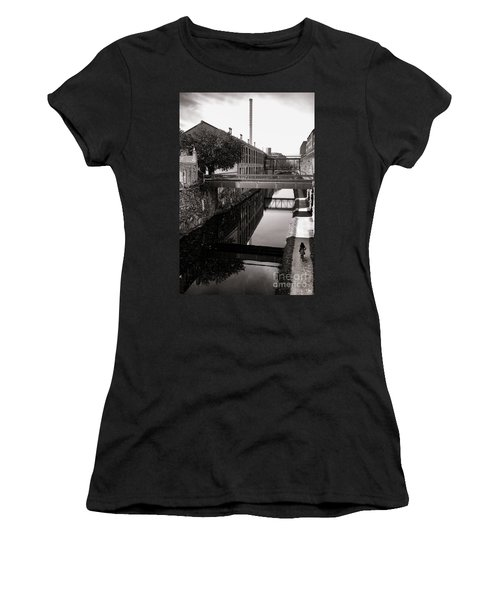 Walking Along The C And O Women's T-Shirt (Athletic Fit)