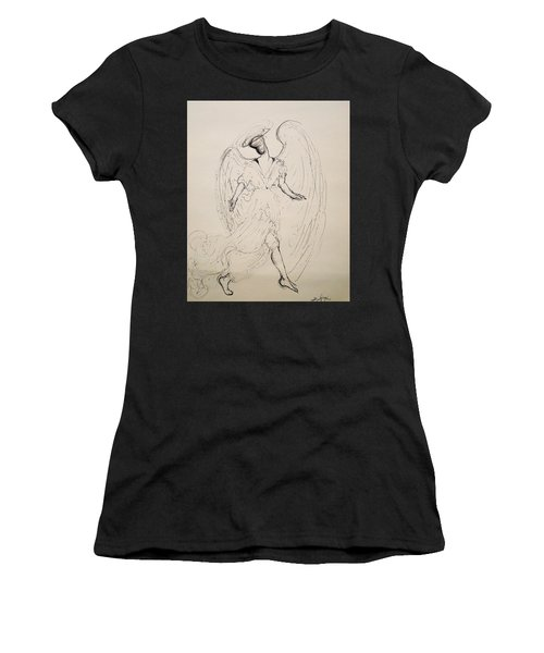Walking With An Angel Women's T-Shirt (Athletic Fit)