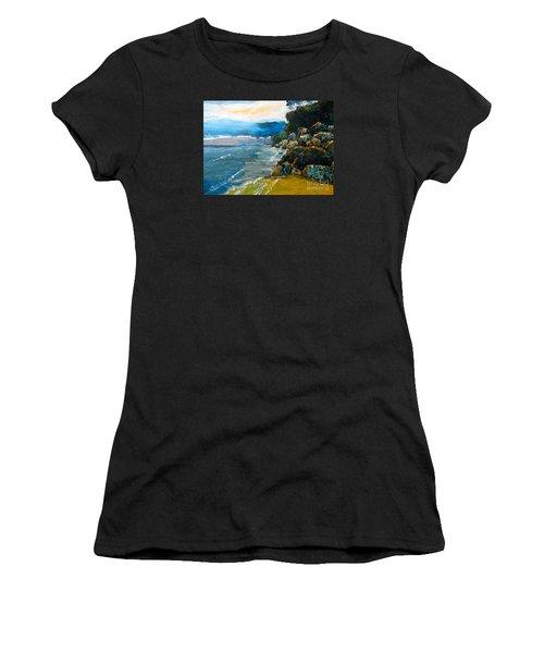 Walomwolla Beach Women's T-Shirt (Junior Cut) by Pamela  Meredith