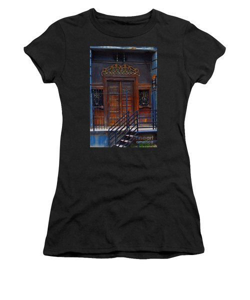 Warning Do Not Enter - Oil Painting Women's T-Shirt (Athletic Fit)