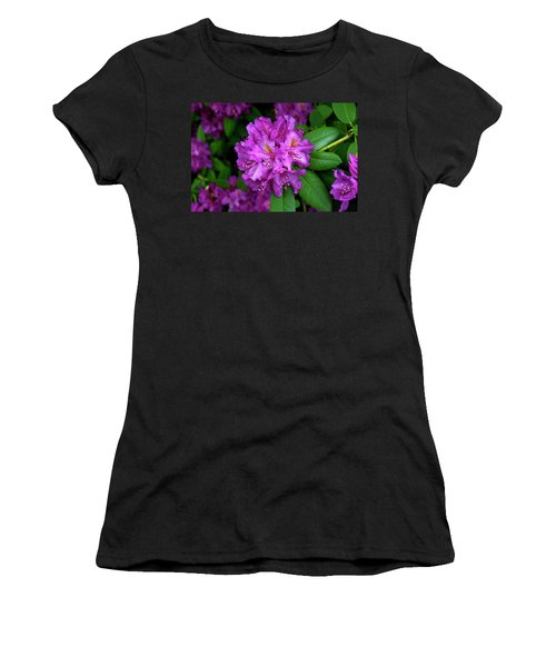 Washington Coastal Rhododendron Women's T-Shirt (Athletic Fit)