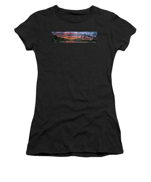 Watauga Lake Sunset Women's T-Shirt (Athletic Fit)