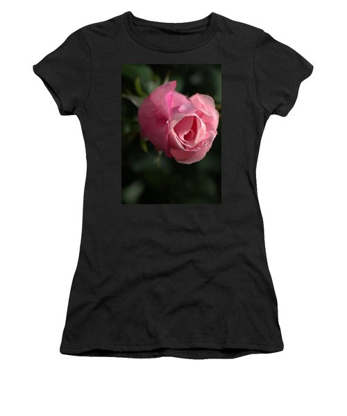 Water And Rose Women's T-Shirt (Athletic Fit)