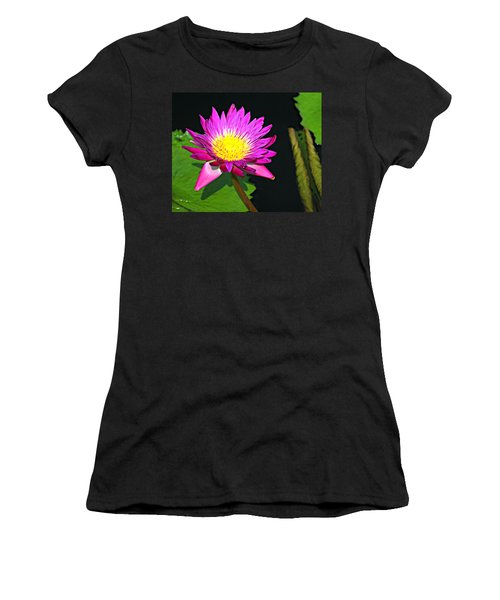 Women's T-Shirt (Junior Cut) featuring the photograph Water Flower 10089 by Marty Koch