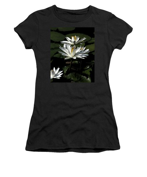 Women's T-Shirt (Junior Cut) featuring the photograph Water Lilies by John Freidenberg
