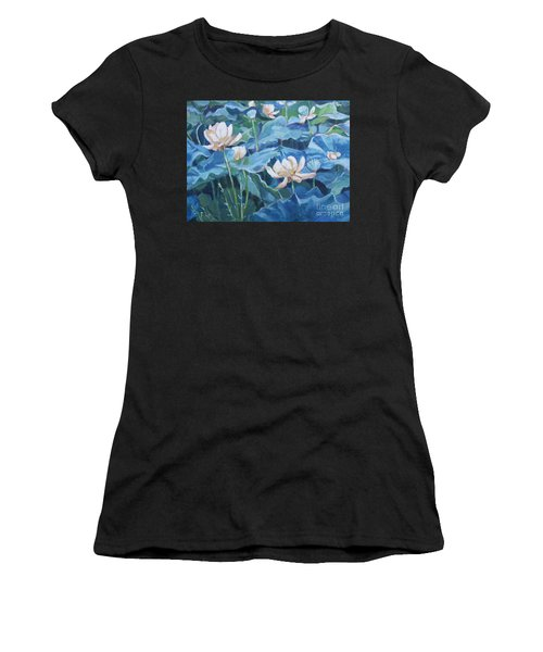 Water Lilies Two Women's T-Shirt (Athletic Fit)