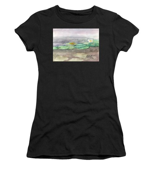 Water Lilly Women's T-Shirt (Athletic Fit)