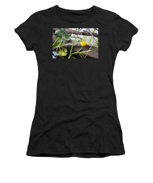 Women's T-Shirt (Junior Cut) featuring the photograph Water Lily by Cathy Mahnke