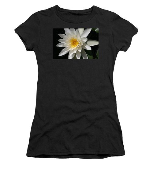 Women's T-Shirt (Junior Cut) featuring the photograph Water Lily  by Denyse Duhaime