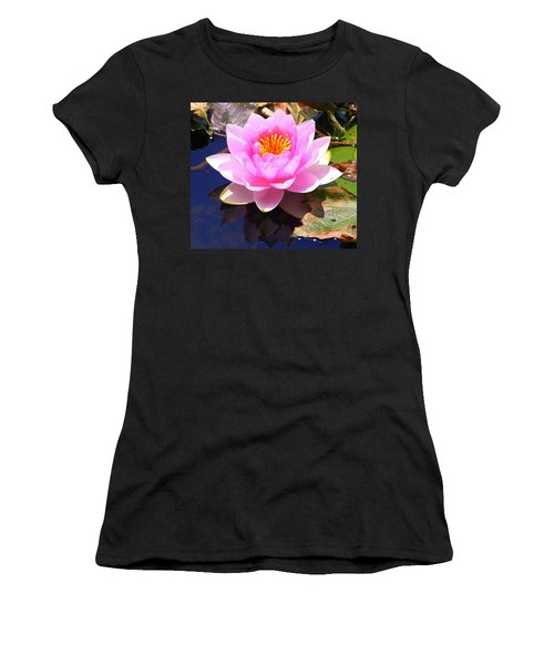 Water Lily In Pink Women's T-Shirt (Athletic Fit)
