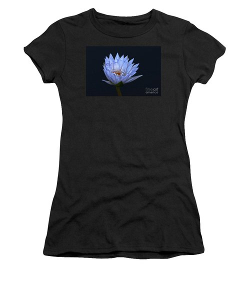 Water Lily Shades Of Blue And Lavender Women's T-Shirt
