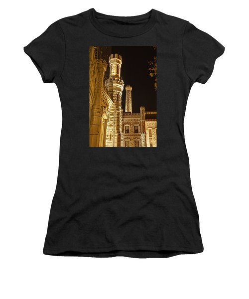 Water Tower At Night Women's T-Shirt (Athletic Fit)
