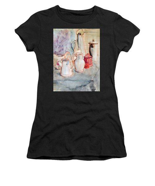 Watercolor Still Life With Red Can Women's T-Shirt