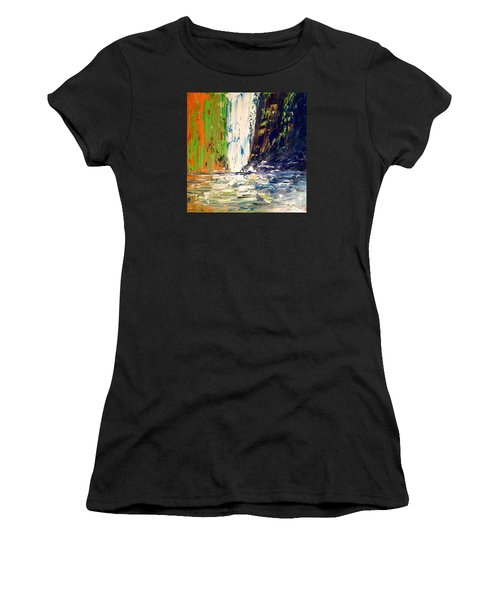Waterfall No. 1 Women's T-Shirt (Athletic Fit)