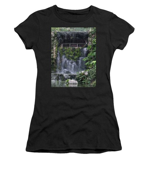 Waterfall Women's T-Shirt (Junior Cut) by Sergey Lukashin