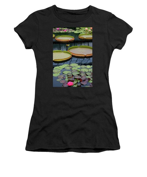 Waterlilies And Platters 2 Women's T-Shirt (Athletic Fit)