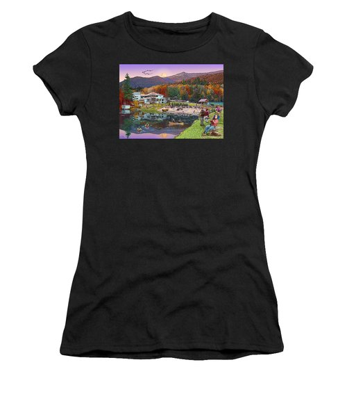 Waterville Estates In Autumn Women's T-Shirt (Athletic Fit)