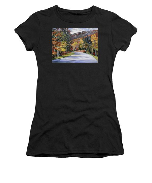 Waterville Road New Hampshire Women's T-Shirt (Athletic Fit)