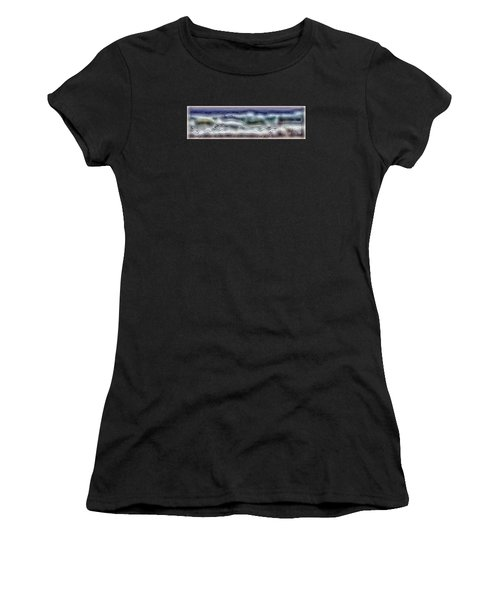 Abstract Waves 15 Women's T-Shirt (Athletic Fit)