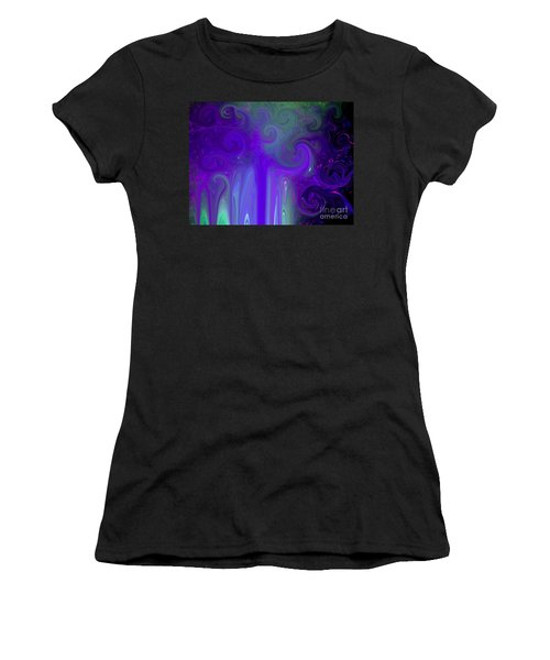 Waves Of Violet - Abstract Women's T-Shirt (Athletic Fit)