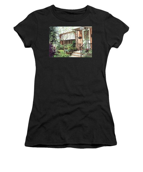 Women's T-Shirt (Junior Cut) featuring the painting Welcome Home by Barbara Jewell