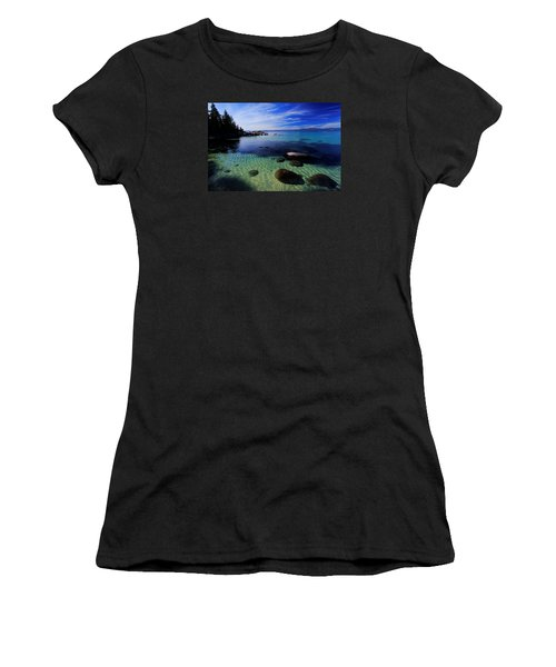 Women's T-Shirt (Junior Cut) featuring the photograph Welcome To Bliss Beach by Sean Sarsfield