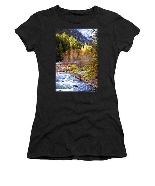 Wenatchee River - Leavenworth - Washington Women's T-Shirt (Athletic Fit)
