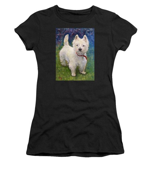 West Highland Terrier Holly Women's T-Shirt (Athletic Fit)
