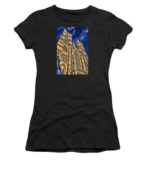 Westminster Abbey West Front Women's T-Shirt (Junior Cut) by Stephen Stookey