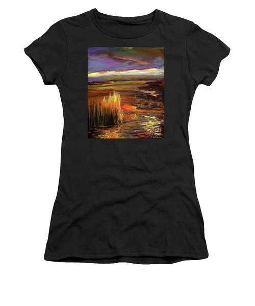Wetlands Sunset Iv Women's T-Shirt
