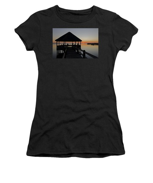Women's T-Shirt (Junior Cut) featuring the photograph Whalehead Sunset Obx by Greg Reed