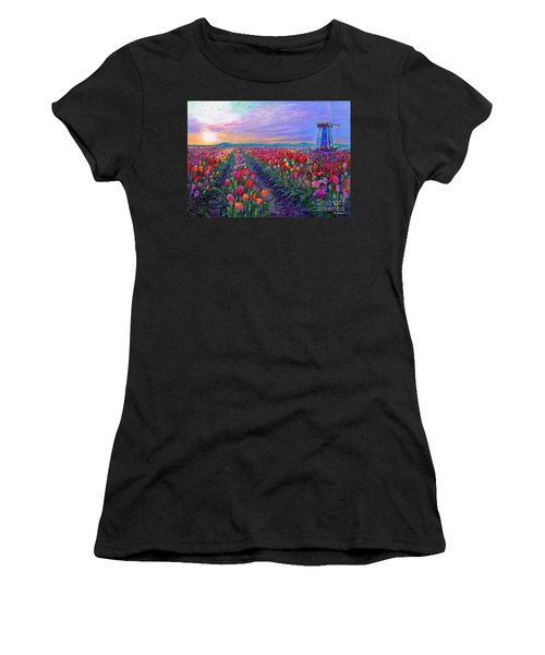 Tulip Fields, What Dreams May Come Women's T-Shirt (Athletic Fit)