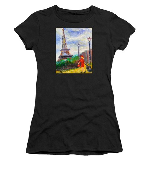 Where To .... Paris  Women's T-Shirt (Athletic Fit)