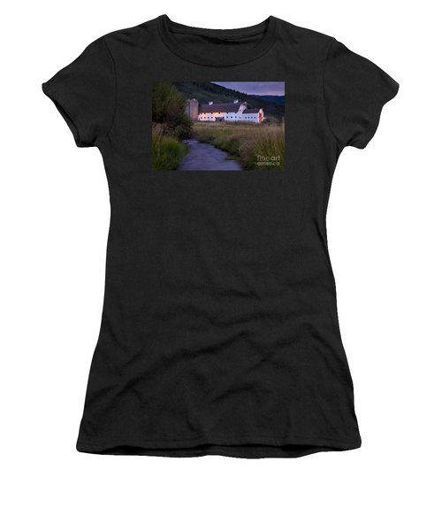 White Barn Women's T-Shirt (Athletic Fit)