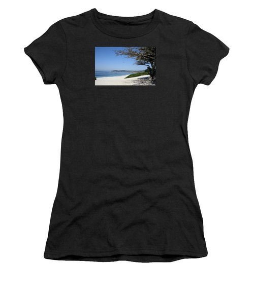 White Beach At Carmel Women's T-Shirt (Athletic Fit)