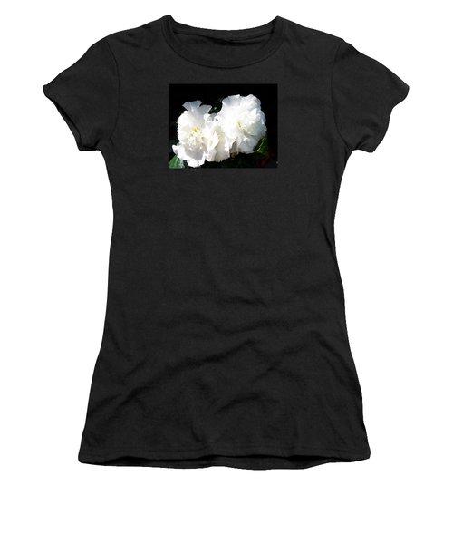 White Begonia  Women's T-Shirt