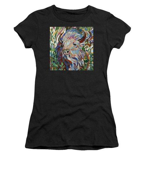 White Buffalo Women's T-Shirt (Junior Cut) by Erika Pochybova