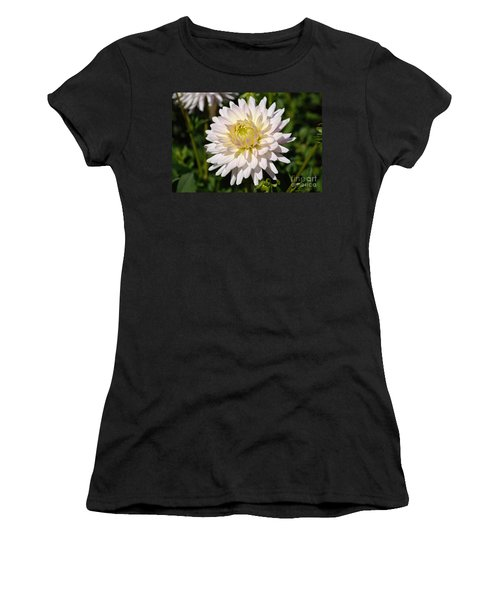White Dahlia Flower Women's T-Shirt