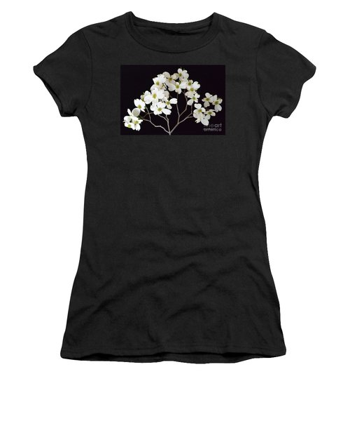 Women's T-Shirt (Junior Cut) featuring the photograph White Dogwood Branch by Jeannie Rhode