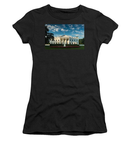 White House Sunrise Women's T-Shirt (Junior Cut) by Steve Gadomski