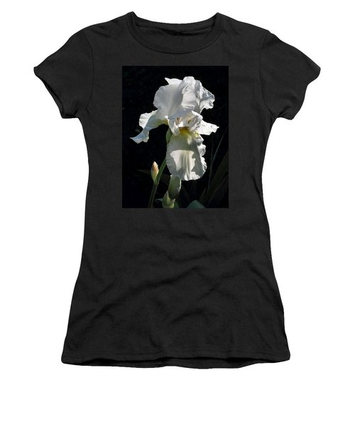 White Iris In The Morning Women's T-Shirt (Athletic Fit)