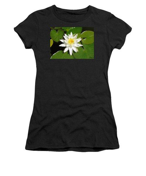 White Lotus 1 Women's T-Shirt (Junior Cut) by Ellen Henneke