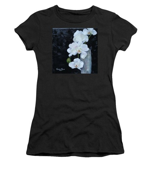 White Orchid Women's T-Shirt (Junior Cut) by Judith Rhue