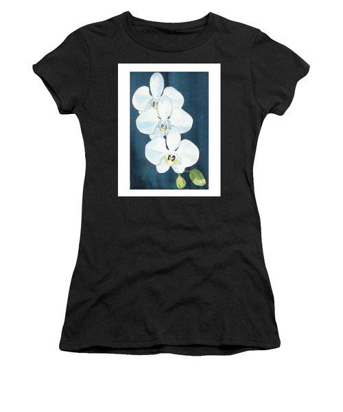 White Orchids Women's T-Shirt